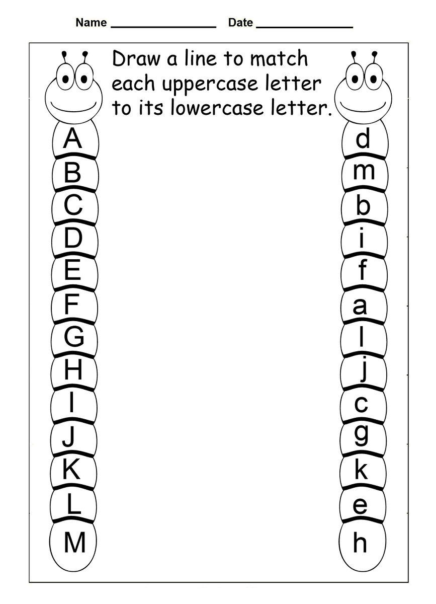 4 Year Old Worksheets Printable | Kids Worksheets Printable - Free Printable Letter Recognition Worksheets