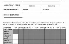 40+ Effective Workout Log & Calendar Templates – Template Lab – Free Printable Gym Workout Plans