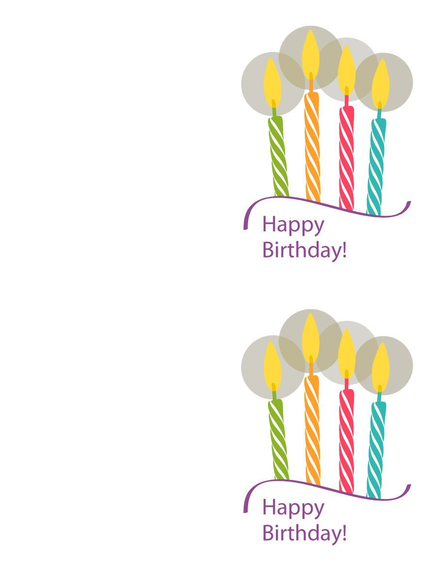 40+ Free Birthday Card Templates ᐅ Template Lab - Happy Birthday Free Cards Printable