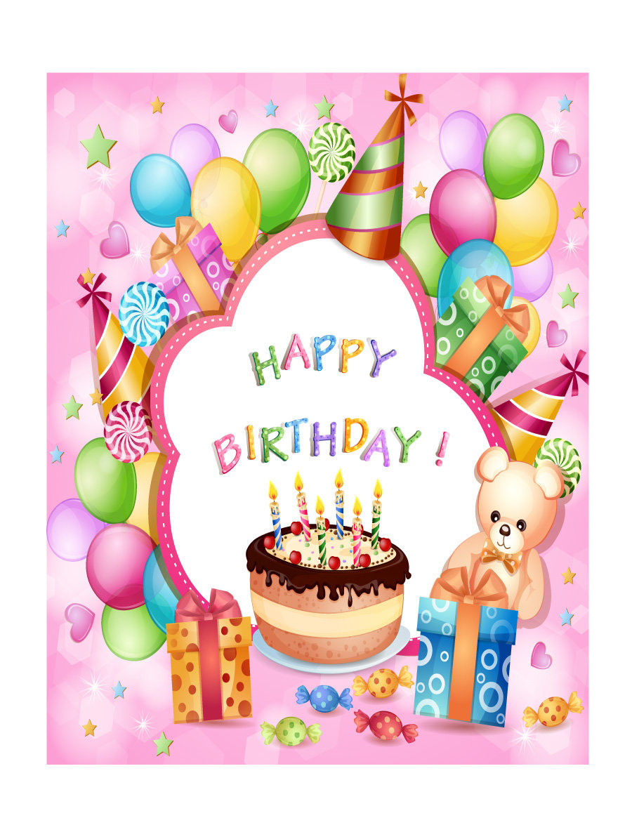 40+ Free Birthday Card Templates - Template Lab - Free Printable Personalized Birthday Cards