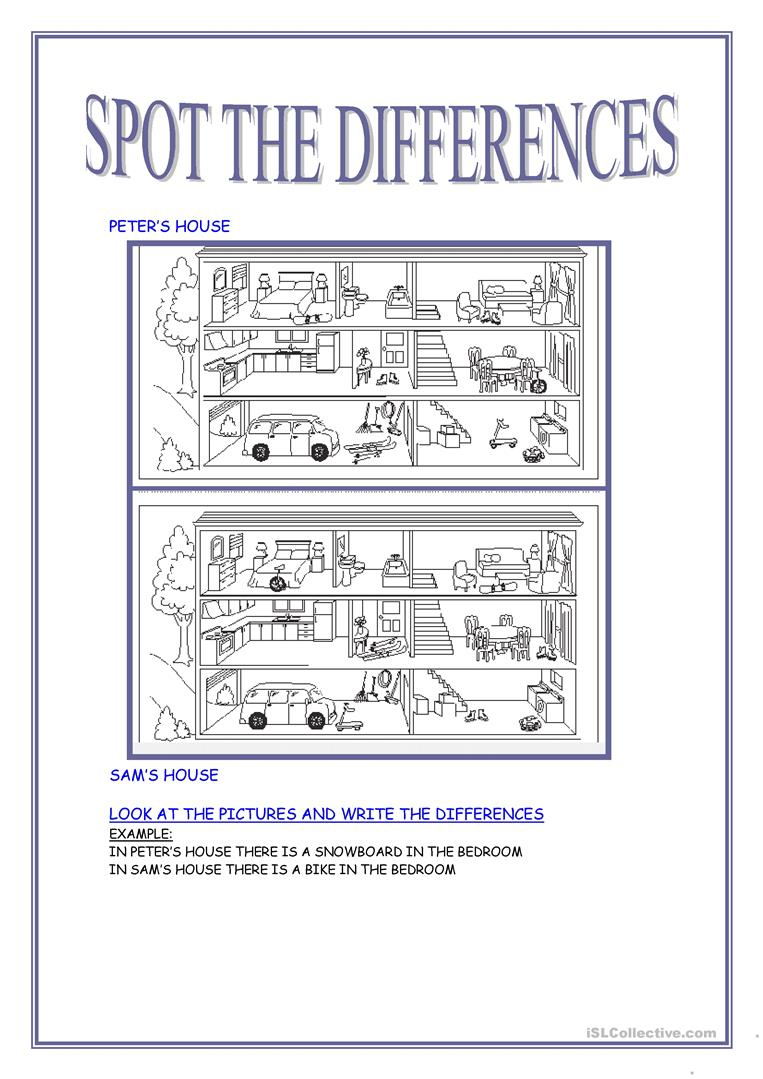 40 Free Esl Spot The Difference Worksheets - Free Printable Spot The Difference Games For Adults