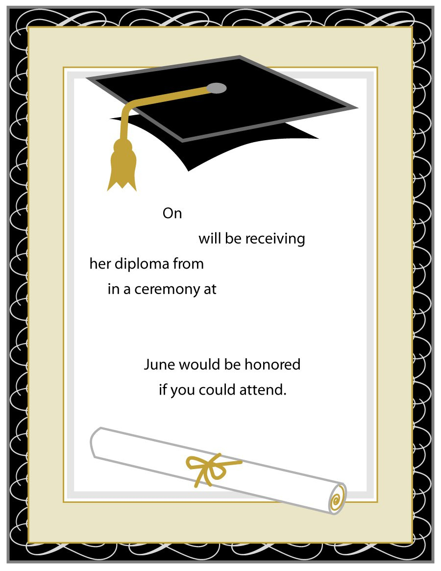 40+ Free Graduation Invitation Templates - Template Lab - Free Printable Graduation Invitations