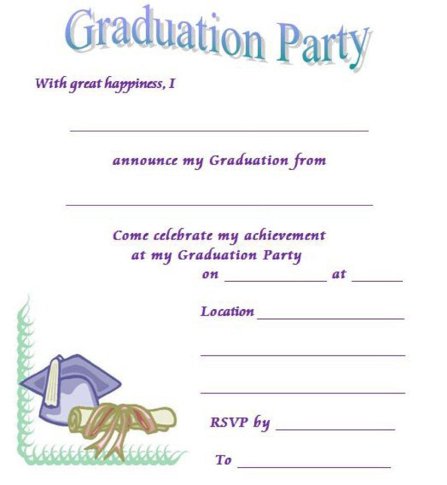 40+ Free Graduation Invitation Templates - Template Lab - Free Printable Graduation Party Games