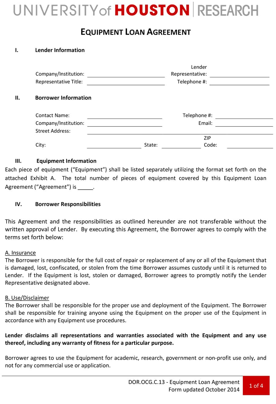 40+ Free Loan Agreement Templates [Word & Pdf] - Template Lab - Free Printable Personal Loan Forms