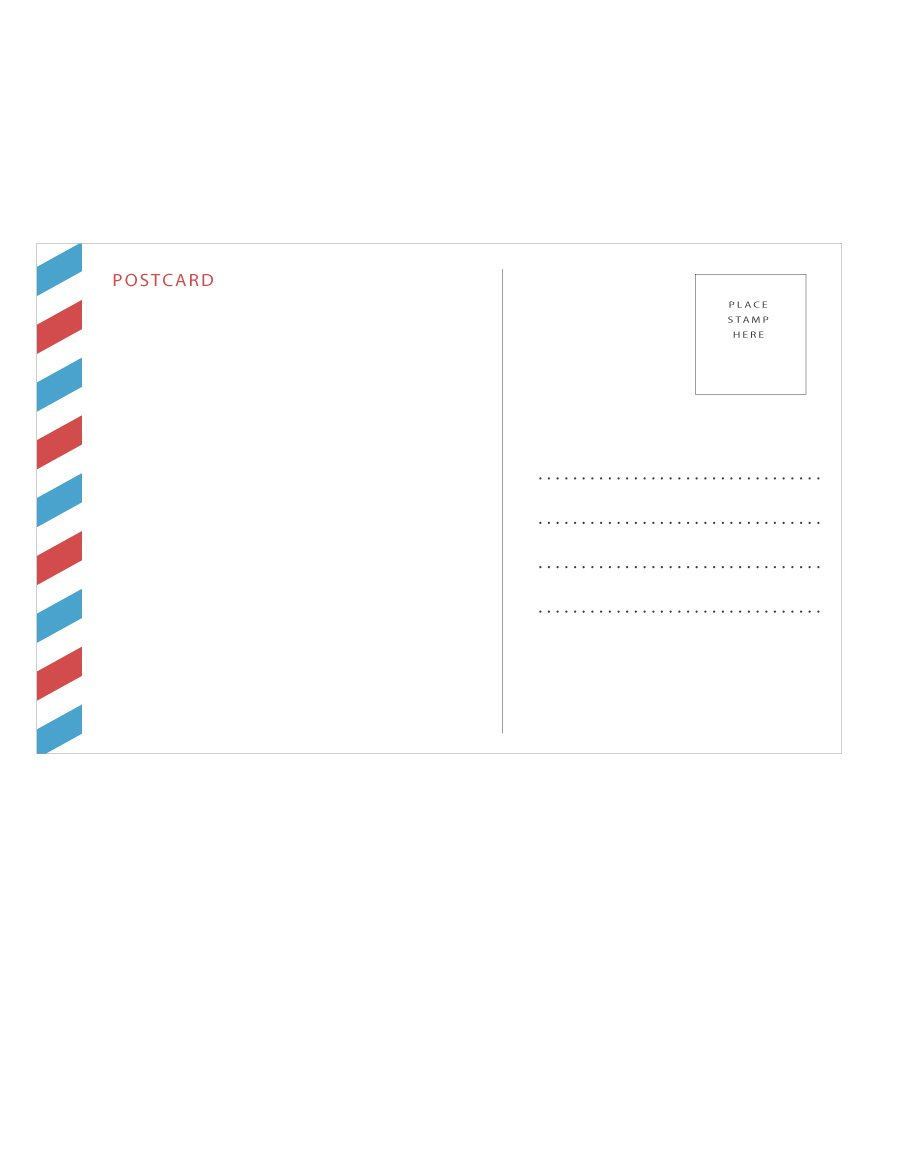 40+ Great Postcard Templates & Designs [Word + Pdf] - Template Lab - Free Blank Printable Postcards