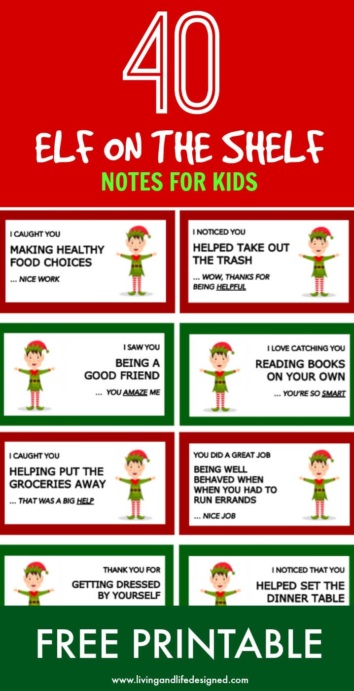 40 Printable Elf On The Shelf Notes For Kids - Free Printable Elf On The Shelf Notes