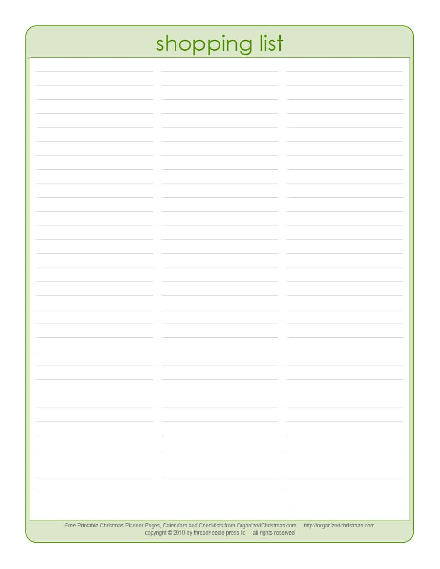 40+ Printable Grocery List Templates (Shopping List) - Template Lab - Free Printable Shopping List