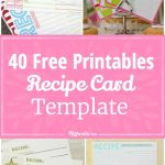40 Recipe Card Template And Free Printables | Printables | Pinterest   Free Printable Recipe Cards