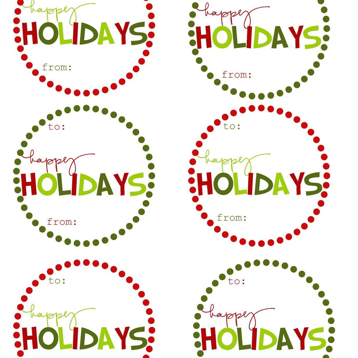 40 Sets Of Free Printable Christmas Gift Tags - Free Printable Gift Tags
