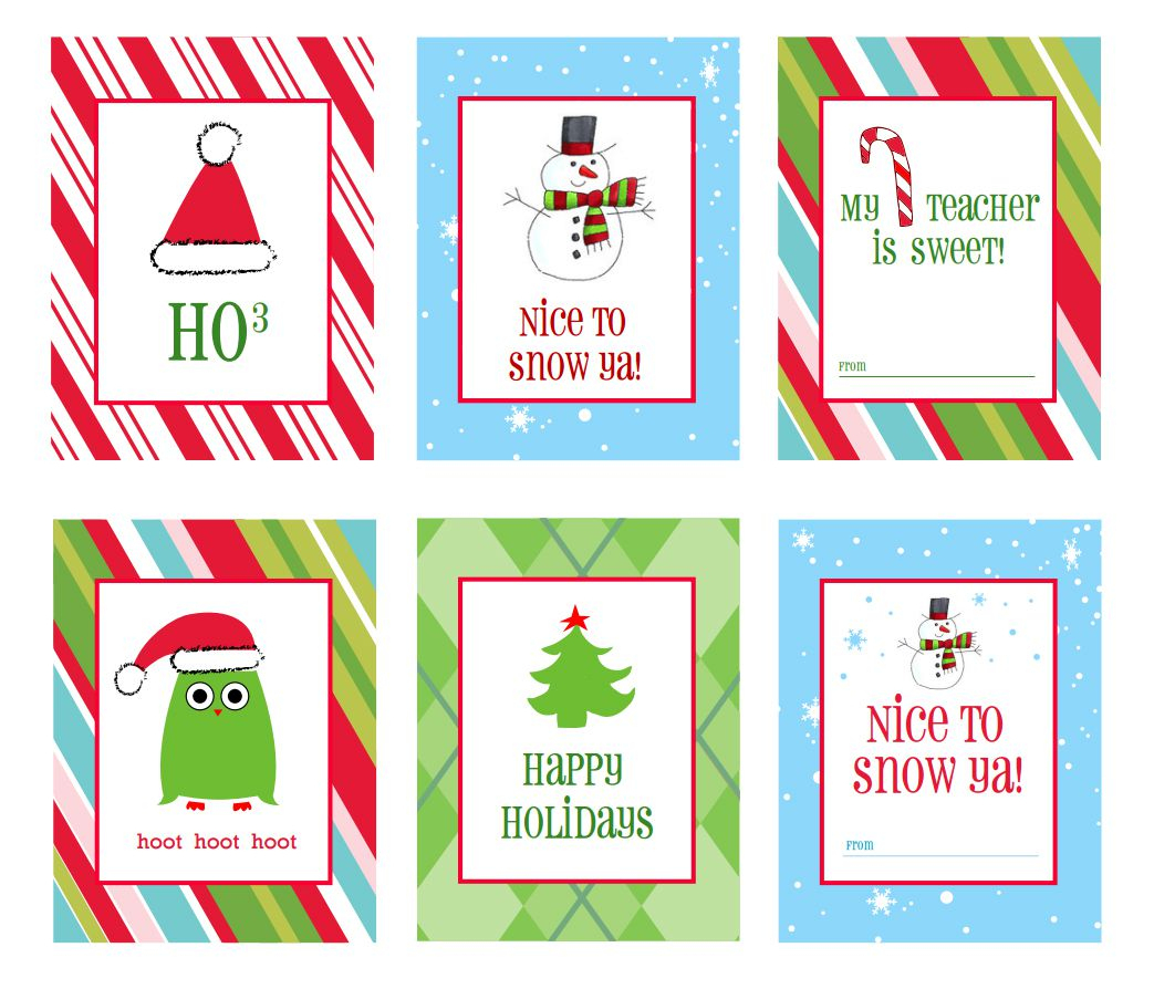 40 Sets Of Free Printable Christmas Gift Tags - Free Printable Happy Holidays Gift Tags