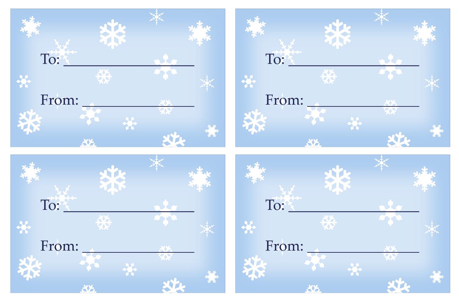 40 Unique Printable Christmas Gift Tags | Kittybabylove - Free Printable Gift Tags Templates