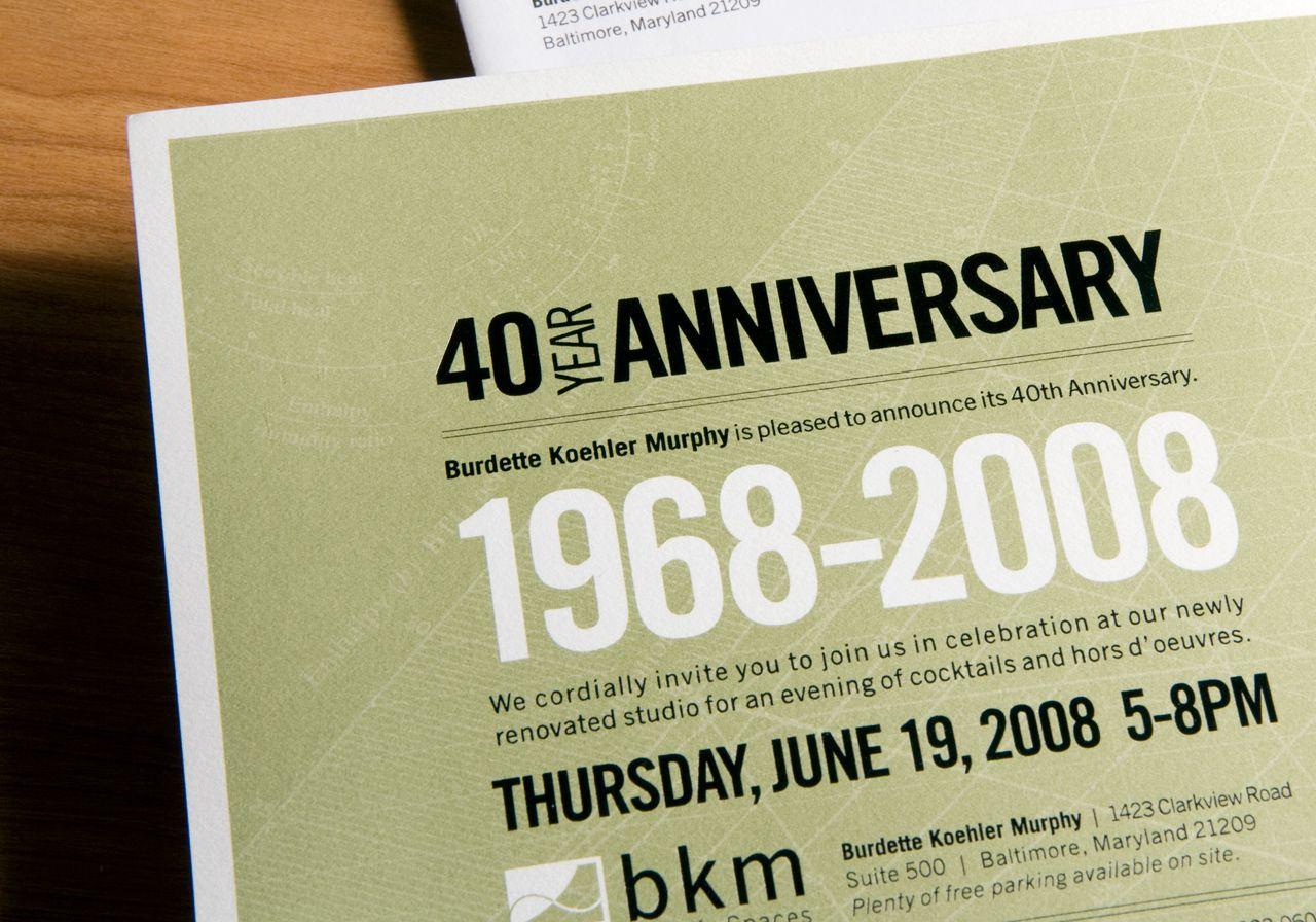 40Th Anniversary Corporate Invitation …   Idea   Pinterest - Free Printable 40Th Anniversary Invitations