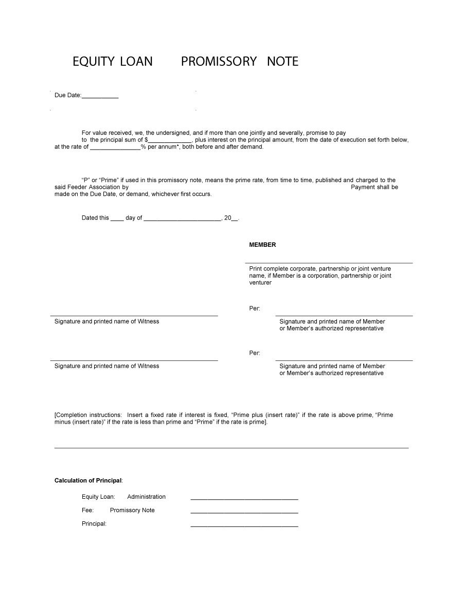 45 Free Promissory Note Templates & Forms [Word & Pdf] - Template Lab - Free Promissory Note Printable Form