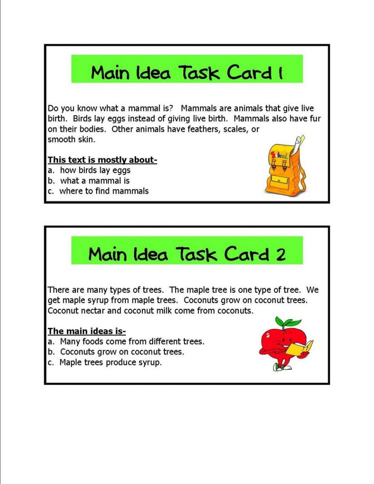 Free Printable Main Idea Worksheets