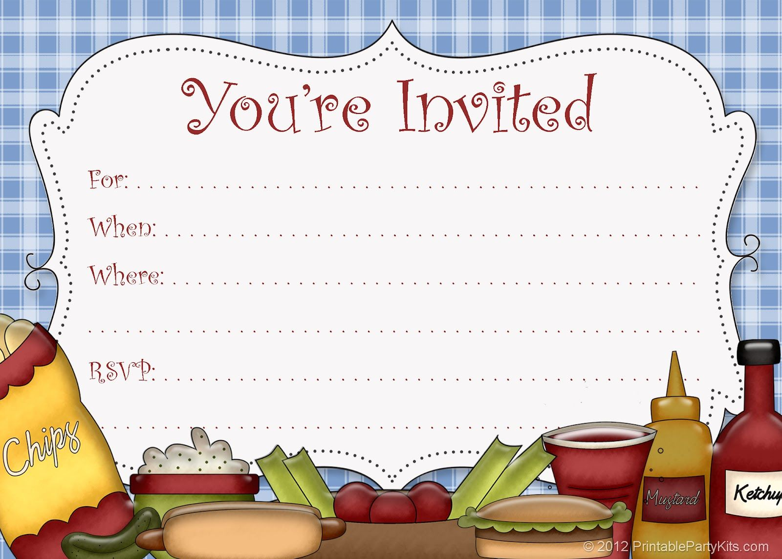 5 Best Images Of Free Printable Cookout Invitations | Party Things - Free Printable Cookout Invitations