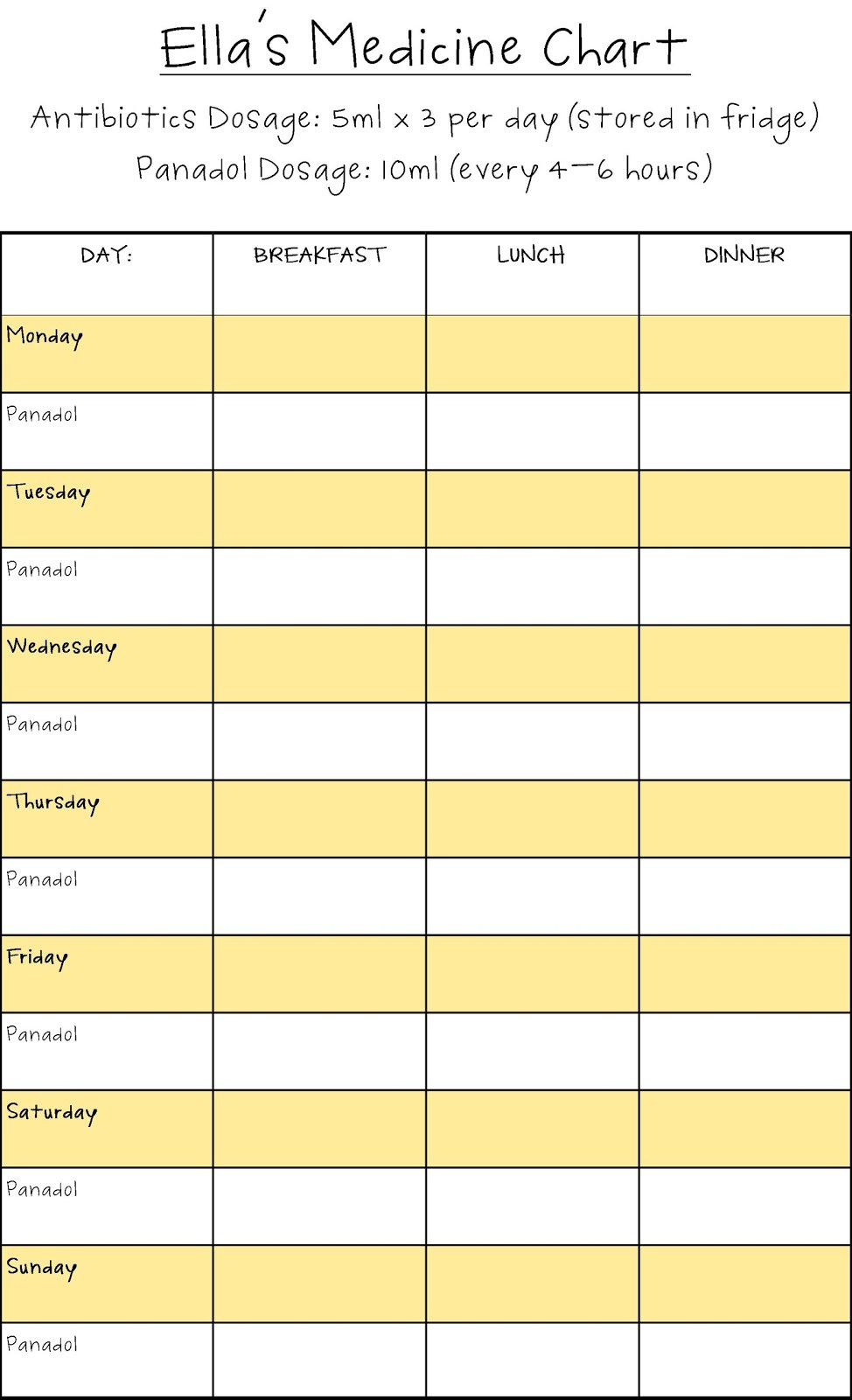 5 Best Images Of Free Printable Medication Schedule … – Jowo - Medication Chart Printable Free