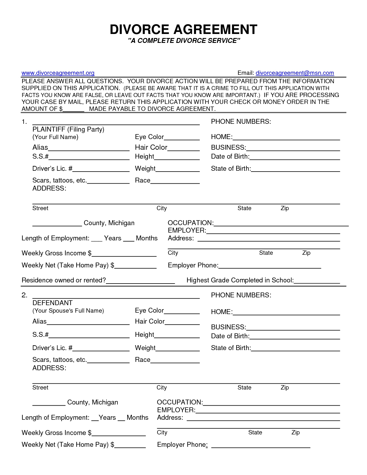 5 Free Divorce Papers In Texas | Document Printable Fake Photo - Free Printable Divorce Decree Forms