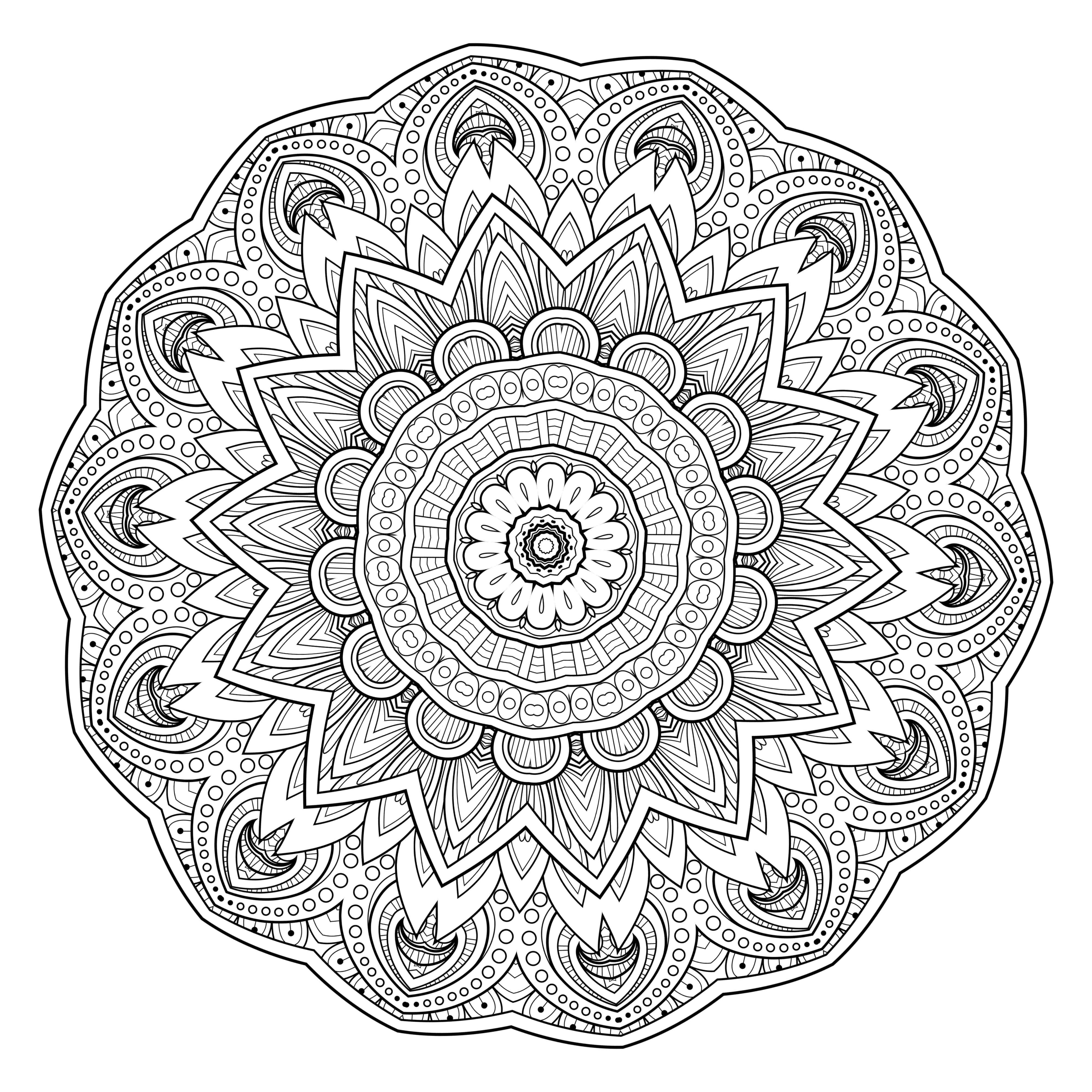 5 Free Printable Coloring Pages: Mandala Templates Intérieur - Free Printable Mandalas