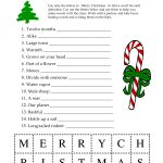 5 Images Of Free Printable Christmas Word Games | Printablee   Free Printable Picture Dictionary For Kids