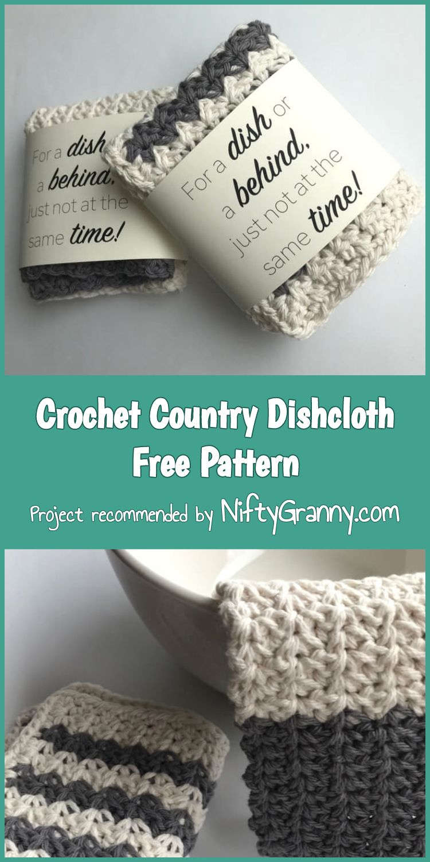 5 Stunning & Easy Crochet Dishcloths Free Patterns   Crochet - Free Printable Dishcloth Wrappers