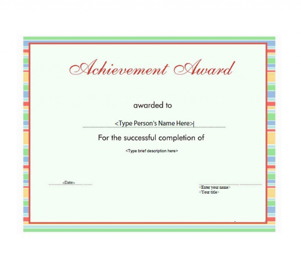 50 Amazing Award Certificate Templates - Template Lab With Regard To - Free Printable Best Daughter Certificate