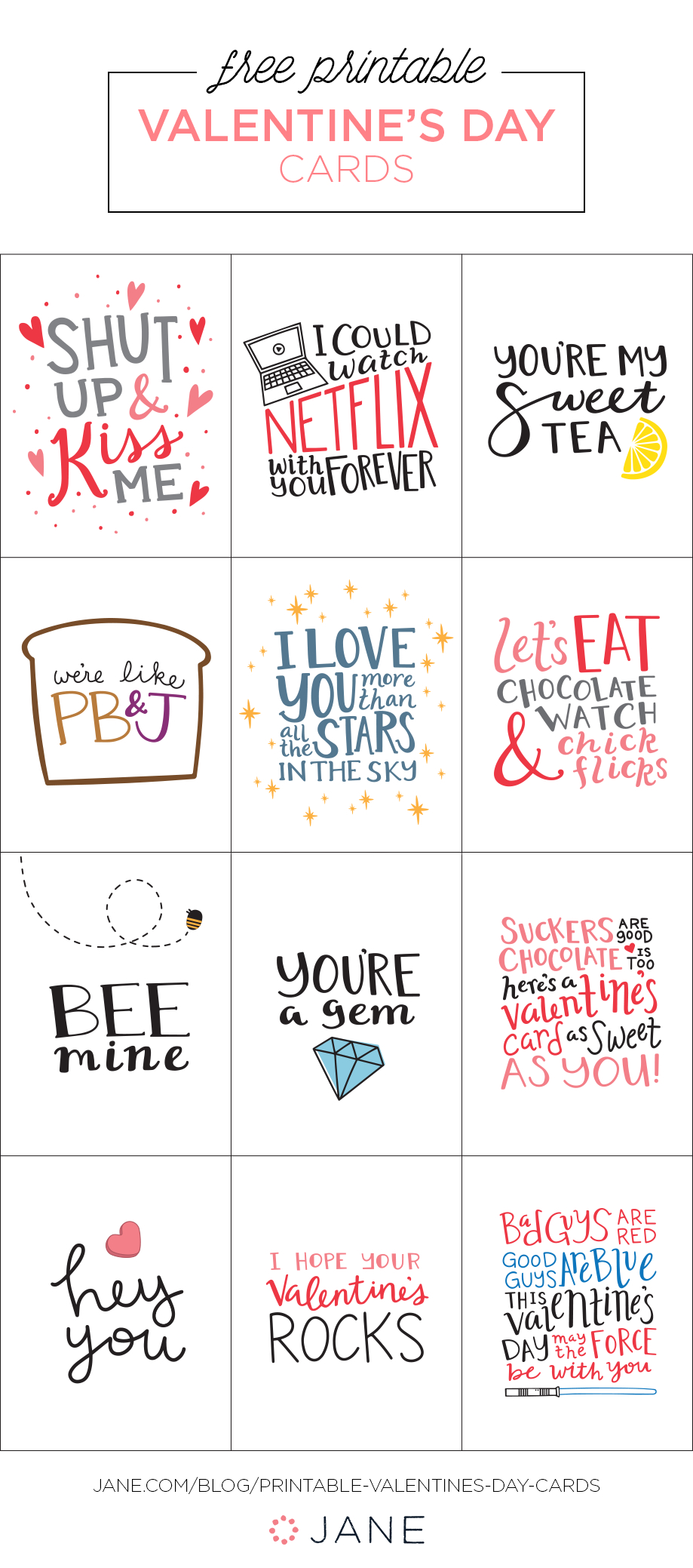 50+ Easy Diy And Printable Valentines | Best Of My So-Called Chaos - Free Printable Valentines Day Cards For Her