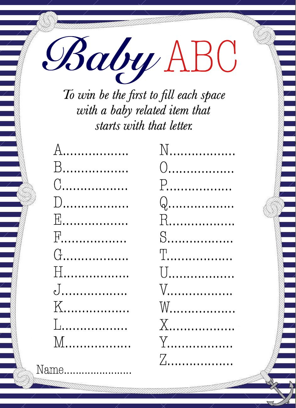 50+ Free Baby Shower Printables For A Perfect Party - Page 21 - Baby Name Race Free Printable
