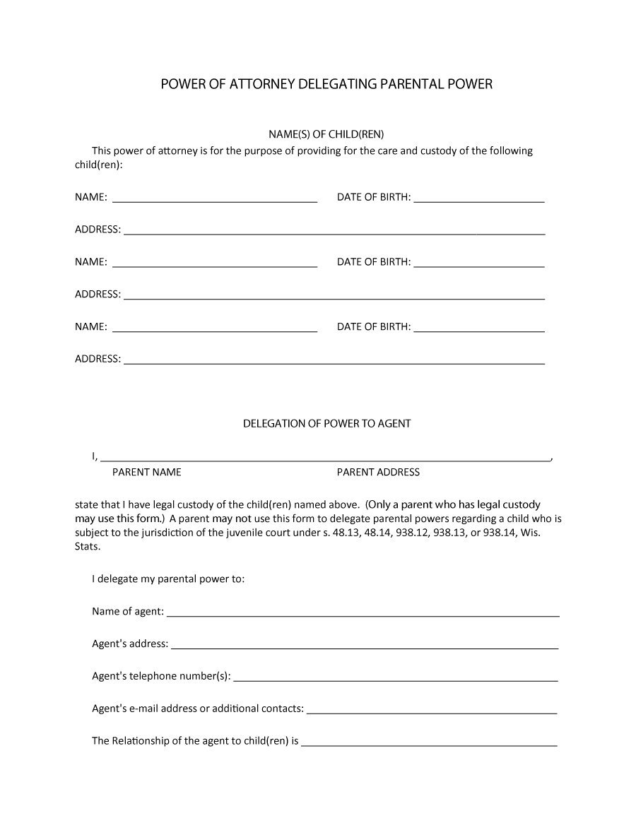 50 Free Power Of Attorney Forms & Templates (Durable, Medical,general) - Free Printable Power Of Attorney Form California