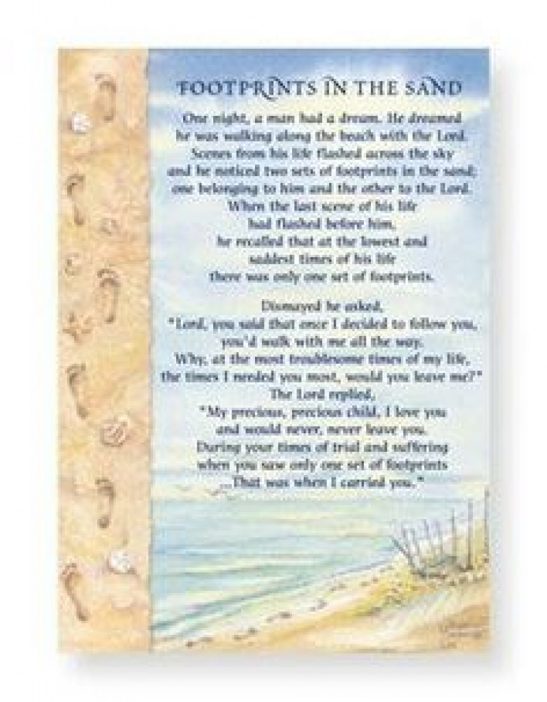 52 Best Footprints In The Sand Poem Images On Pinterest | Footprints - Footprints In The Sand Printable Free