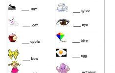 Free Printable Alphabet Worksheets For Grade 1