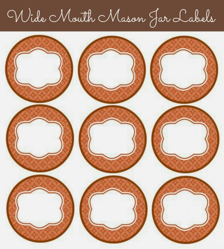 Free Printable Mason Jar Labels Template