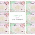 6 Best Images Of Printable Baby Shower Thank You Baby Steam Shower   Free Printable Baby Shower Thank You Cards