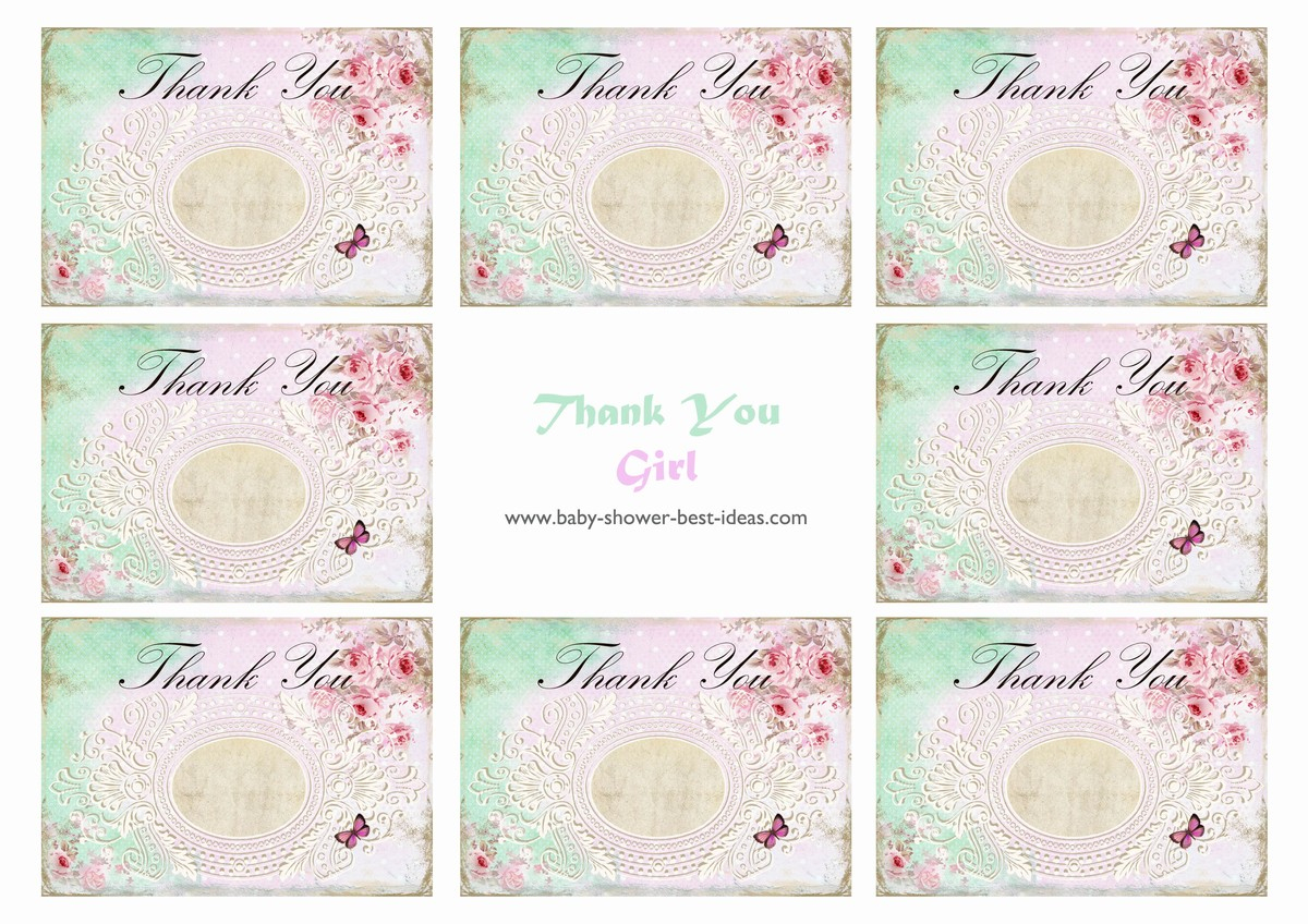 6 Best Images Of Printable Baby Shower Thank You Baby Steam Shower - Free Printable Baby Shower Thank You Cards