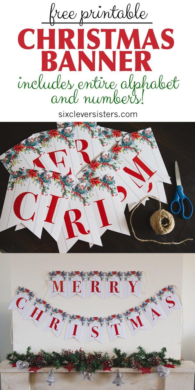 6 Free Printable Christmas Signs | Christmas | Pinterest | Merry - Free Printable Christmas Party Signs