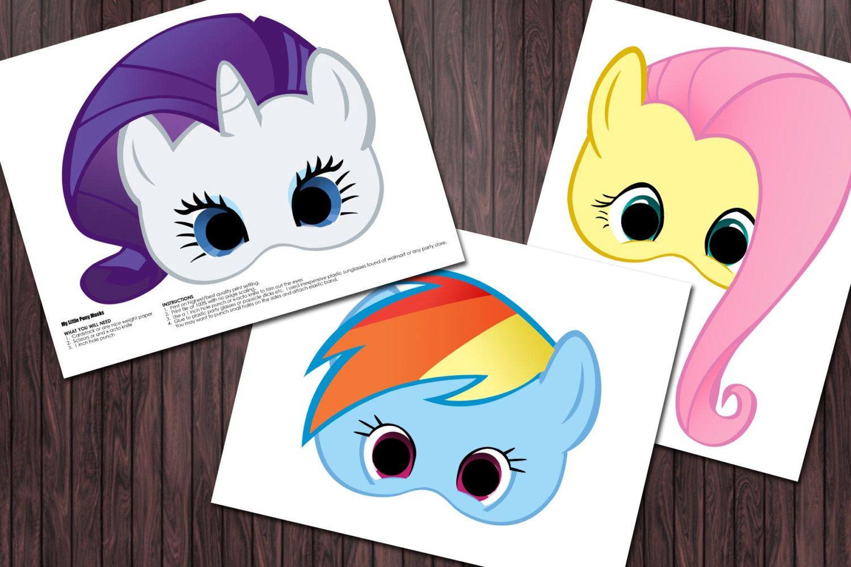 6 My Little Pony Printable Masks Birthday Party - Custom Diy - Free My Little Pony Printable Masks