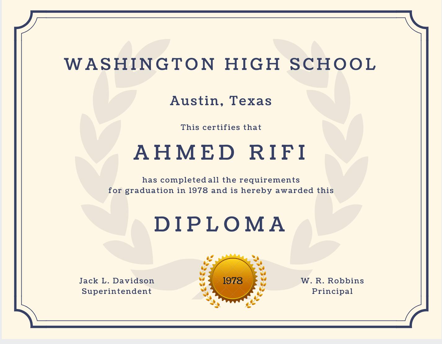60+ Free High School Diploma Template - Printable Certificates!! - Free Printable High School Diploma Templates