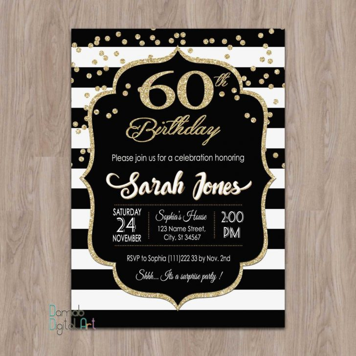 Free Printable 60Th Wedding Anniversary Invitations