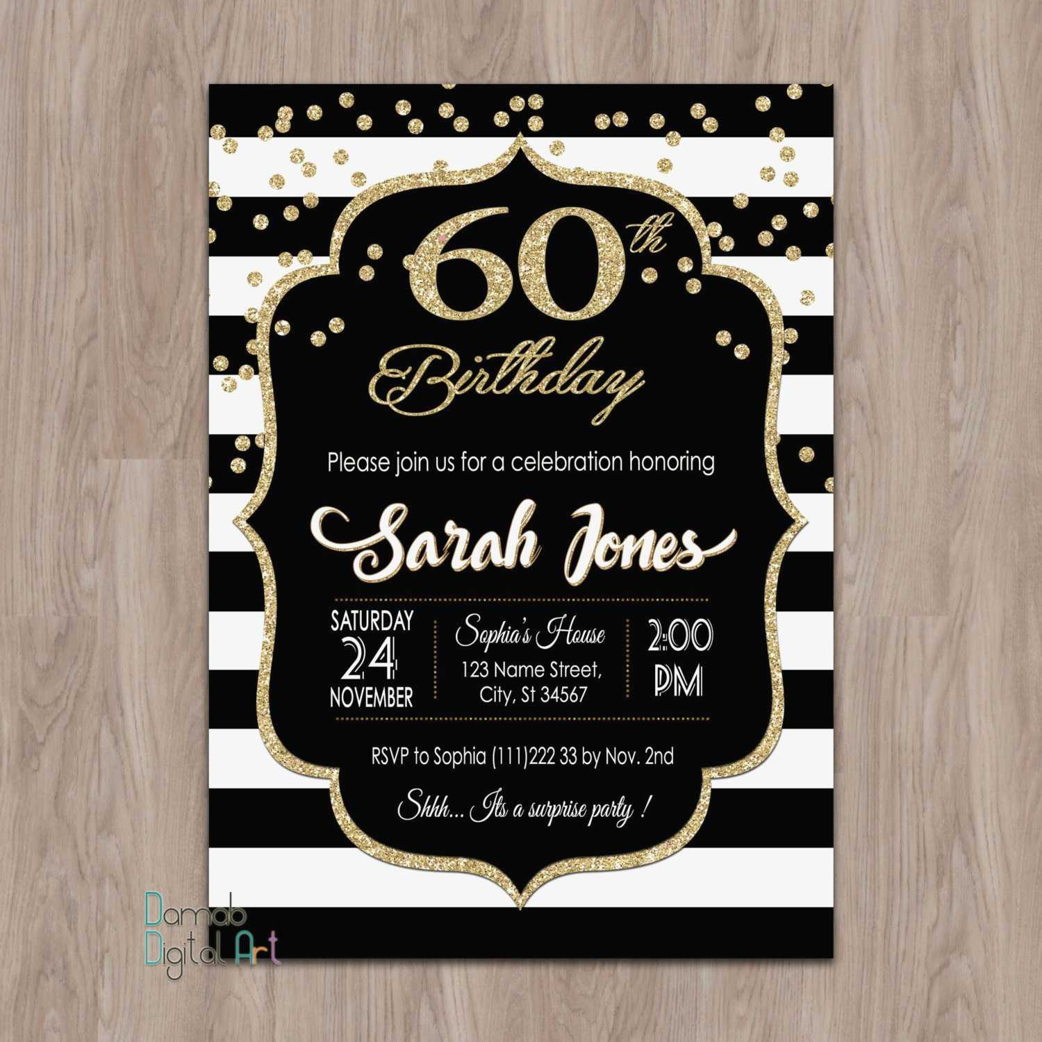 60Th Wedding Anniversary Invitations Unique Free Printable - Free Printable 60Th Wedding Anniversary Invitations