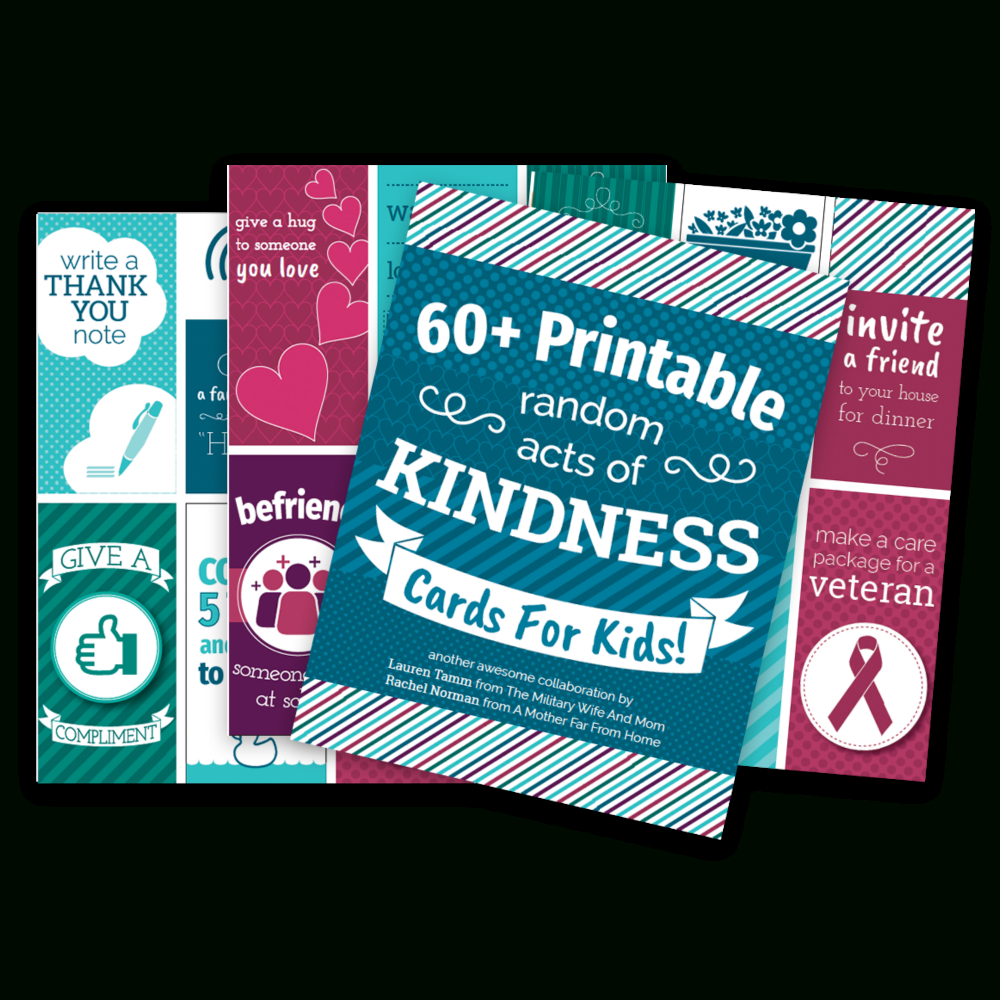 65+ Printable Random Acts Of Kindness Cards For Kids - Free Printable Kindness Cards