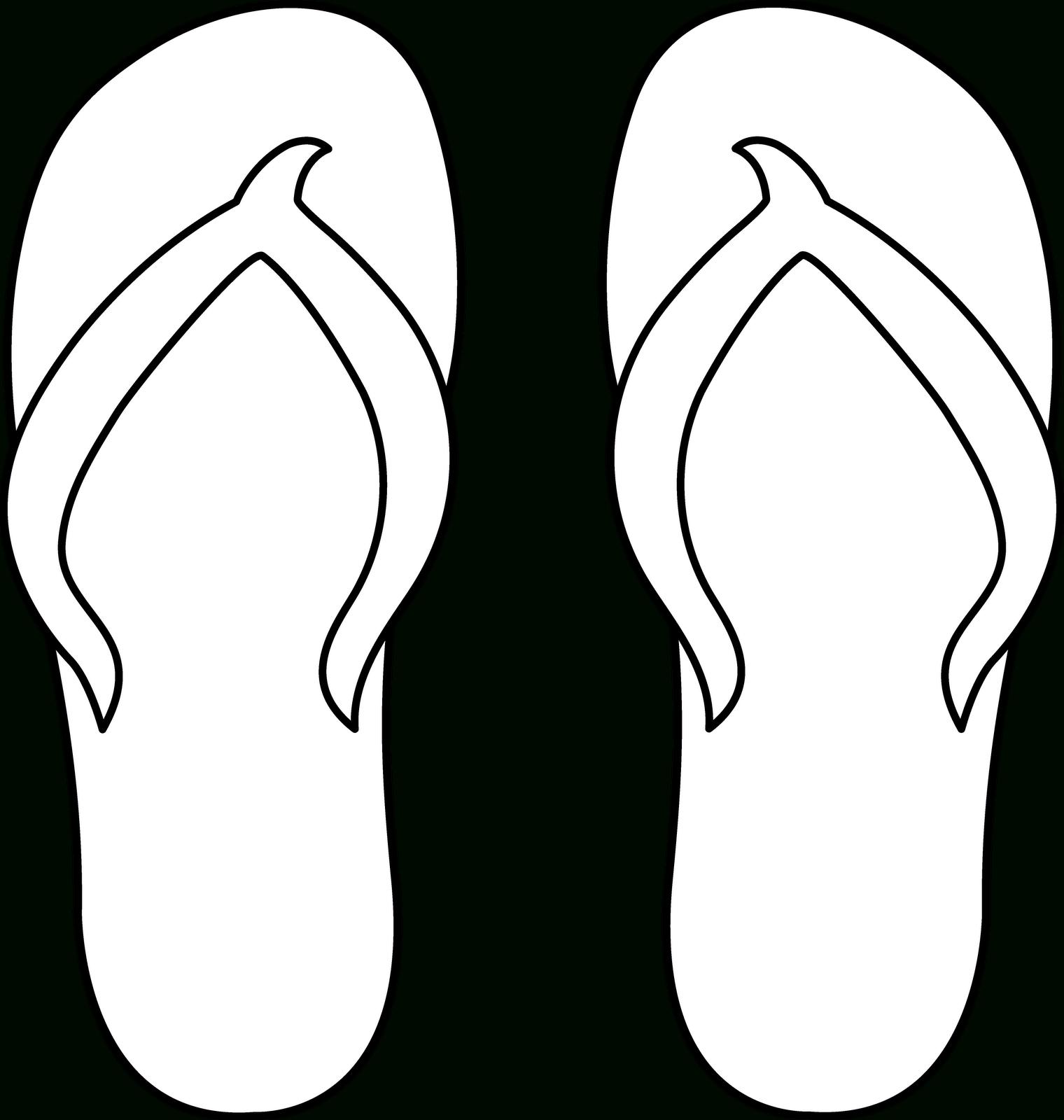7 Best Images Of Flip Flop Pattern Printable - Flip Flop Pattern - Free Printable Flip Flop Pattern
