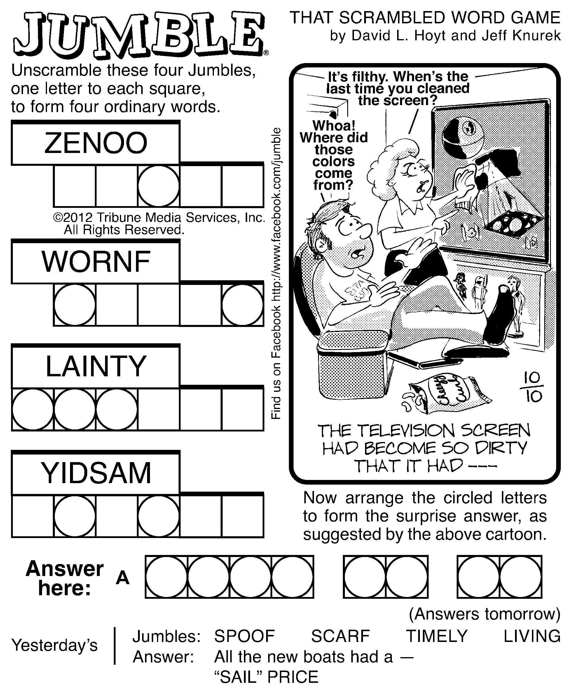 7 Best Images Of Printable Jumble Word Puzzles Coping   Jumble - Free Printable Jumbles
