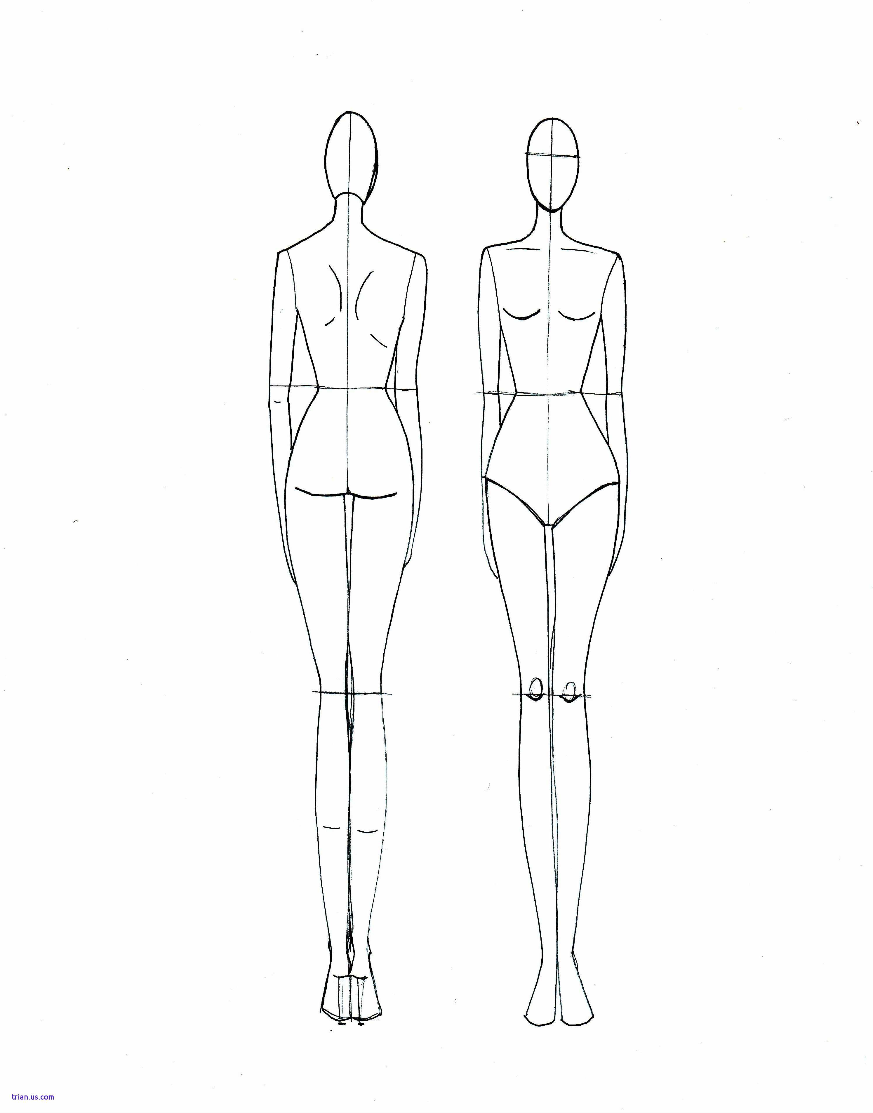 7 Drawing Template Back Model For Free Download On Ayoqq - Free Printable Fashion Model Templates