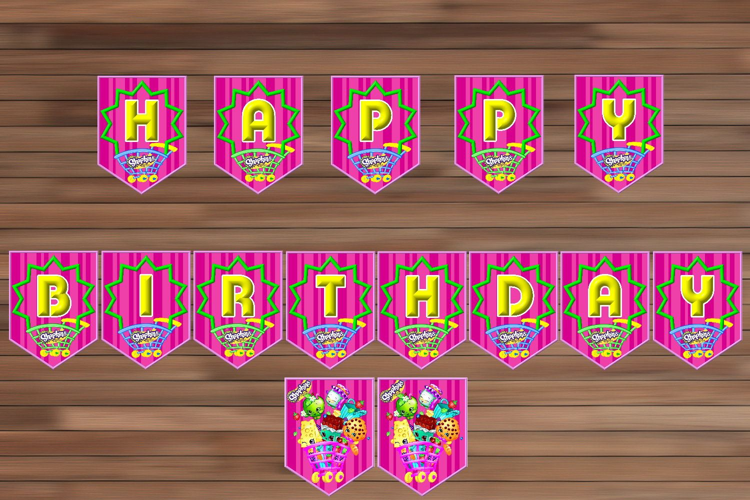 7 Images Of S Hopkins Birthday Party Printables | Prints | Pinterest - Shopkins Banner Printable Free
