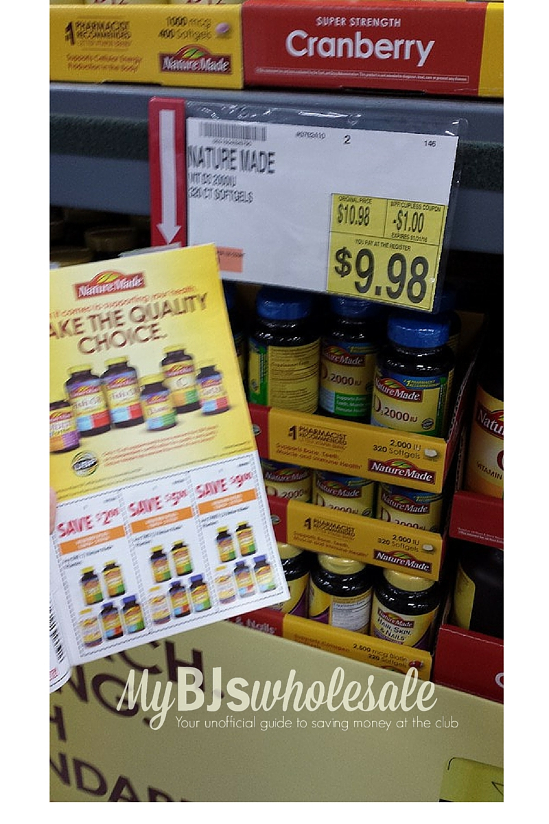 $7 In New Nature Made Vitamins Coupons + Nice Deal At Bj's | My Bjs - Free Printable Nature Made Vitamin Coupons