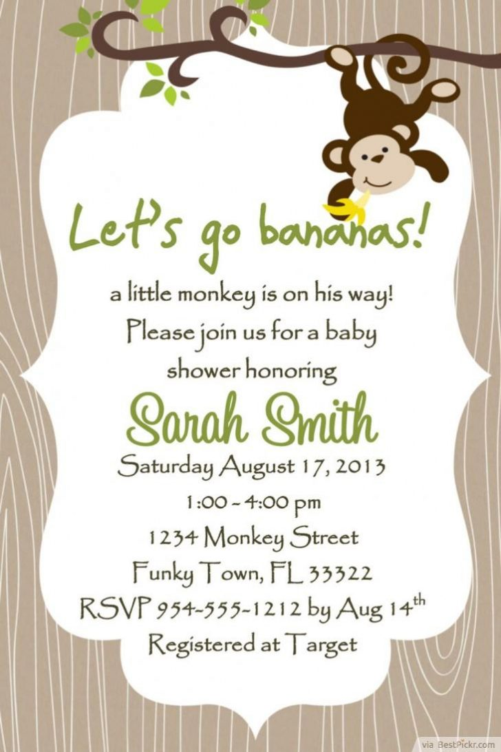 Free Printable Monkey Birthday Party Invitations