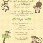 7 Printable Monkey Baby Shower Invitations | Bestpickr   Free Printable Monkey Birthday Party Invitations