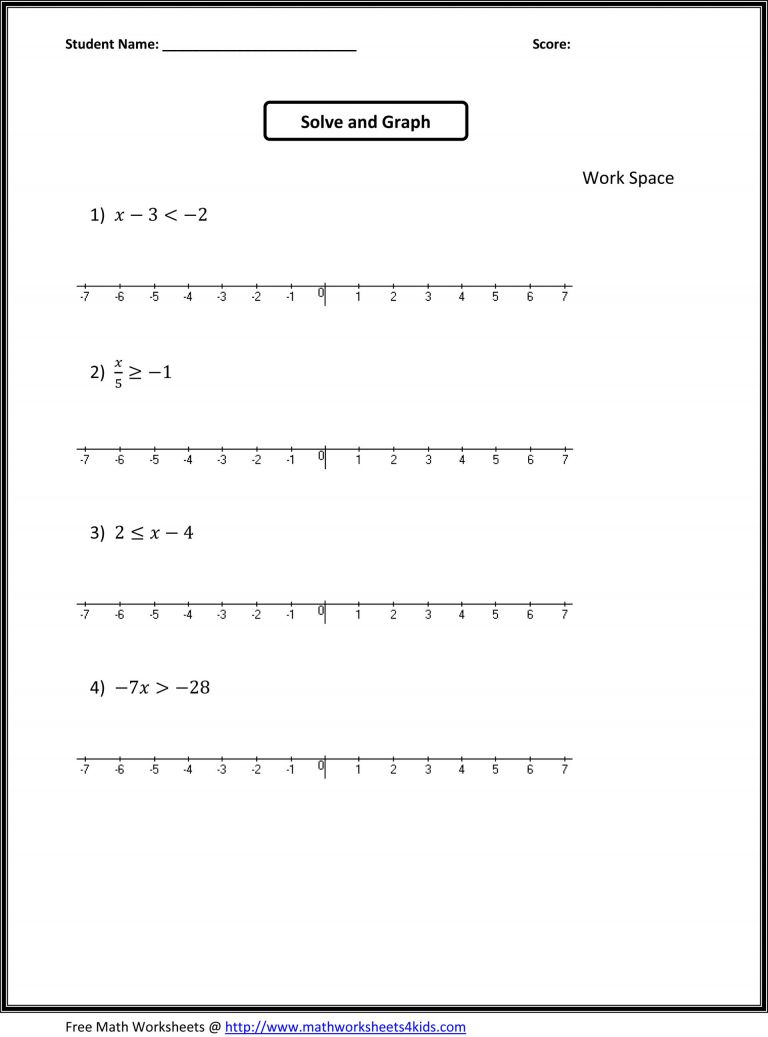 7Th Grade Worksheets Free 7Th Grade Math Worksheets Free Printable - 7Th Grade Math Worksheets Free Printable With Answers