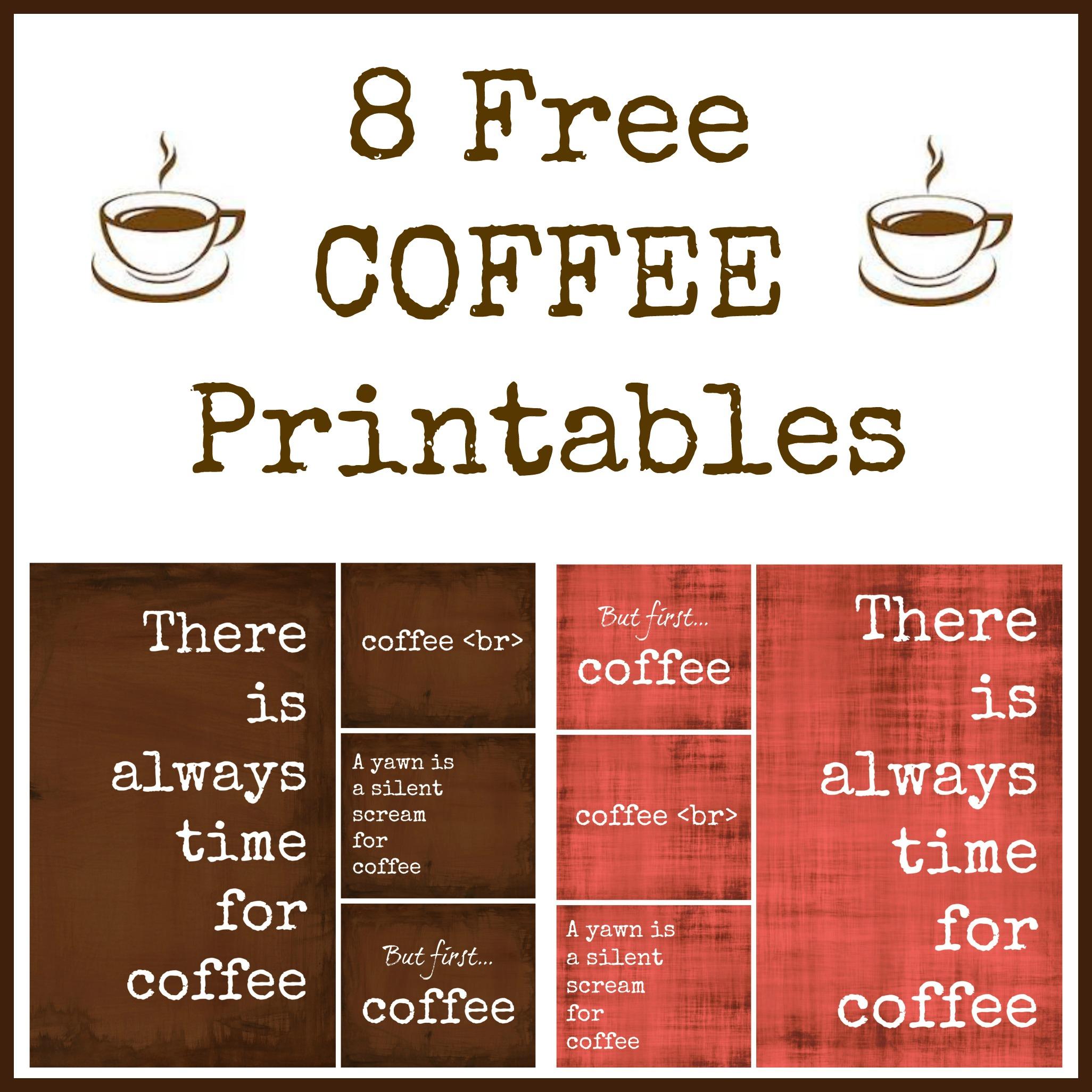 8 Free Coffee Printables - - Free Printable Coffee Bar Signs