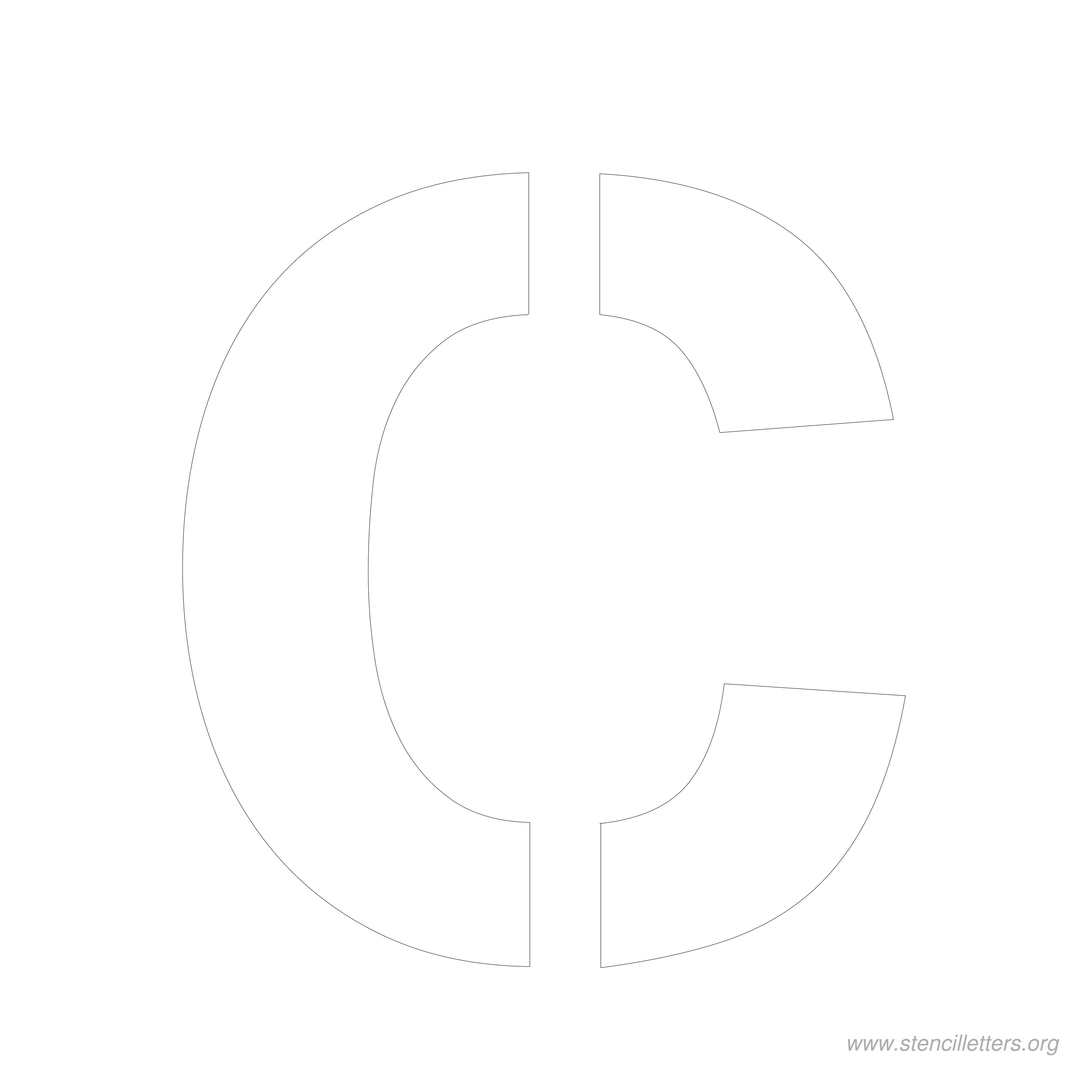 8 Inch Stencil Letters | Stencil Letters Org - Free Printable 8 Inch Letters