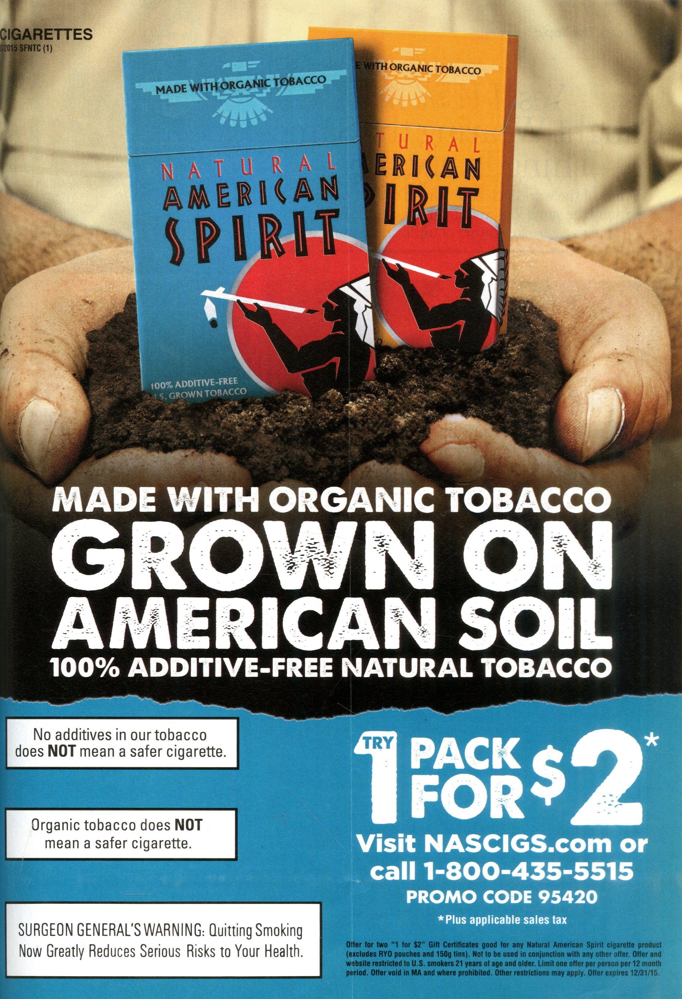 8. Natural American Spirit Cigarettes Source: Glamour, Mar. 2015 - Free Printable Cigarette Coupons